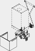 Unterbau-Kit m.Mischer+HE-Pumpe 380x480