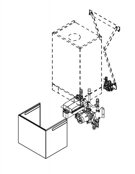 Viessmann Unterbau-Kit mit Mischer für Gerätebreite 450 mm, mit Hocheffizienz-Umwälzpumpe