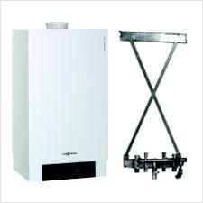 Viessmann Paket: Vitodens 200-W 26,0 kW, Kombigerät, modulierend, Vitotronic 200, Aufputz-Montage