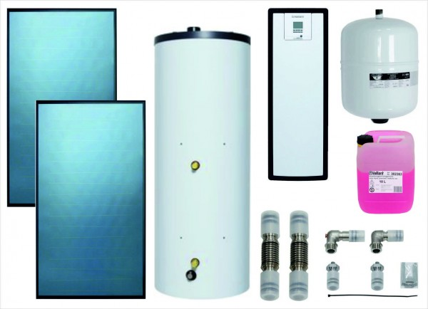 VAILLANT Paket 9.201/3 Solar SWW 2x VFK 125, VIH S2 250/4 B, VMS 8
