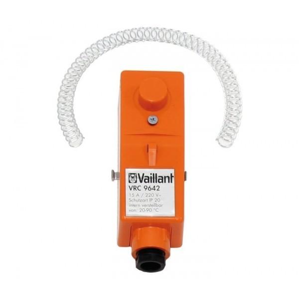 VAILLANT Anlegethermostat VRC 9642 mit Umschaltkontakt, Spannband-Befestig.