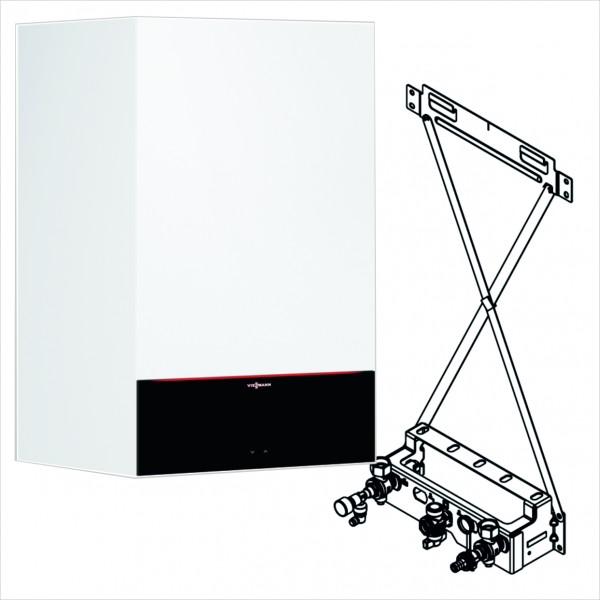 Viessmann Paket Vitodens 300-W 25 kW solare Heizungsunterstützung