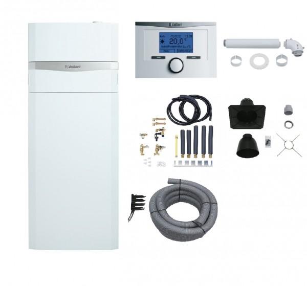 VAILLANT Paket 1.402/5 ecoCOMPACT VSC206/4-5 90E(Schichtladespeicher), VRC700/6, Konsole, Abgas flex