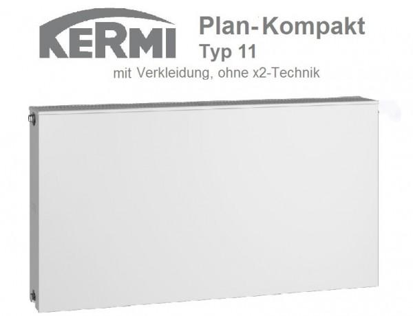 Kermi Plan-Kompaktheizkörper Plan-K, Typ 11, BH 305 x BL 405 x BT 63 mm, versandkostenfrei in NRW
