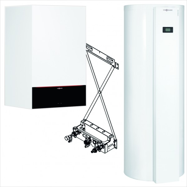 Viessmann Paket Vitodens 200-W 11 kW Umlauf Vitocal 060-A 251L