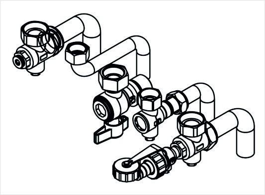Viessmann Anschluss-Zubehör Gas-Brennwert-Kombigerät für Aufputzmontage