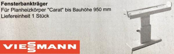 Viessmann Fensterbankträger für Planheizkörper Carat bis BH 950 mm