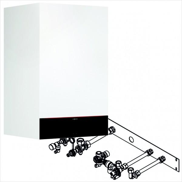 Viessmann Paket Vitodens 222-W 25 kW Montagehilfe UP