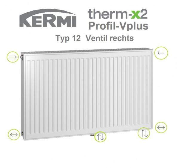 Kermi Profil-Vplus Typ 12, BH 300 x BL 900 x BT 64 mm, Ventil rechts, versandkostenfrei in NRW