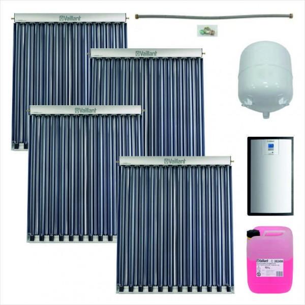 Vaillant Solarpaket zur Nachrüstung 9.631/2: 4x auroTHERM VTK 1140/2, Solarstation VPM 20/2 S