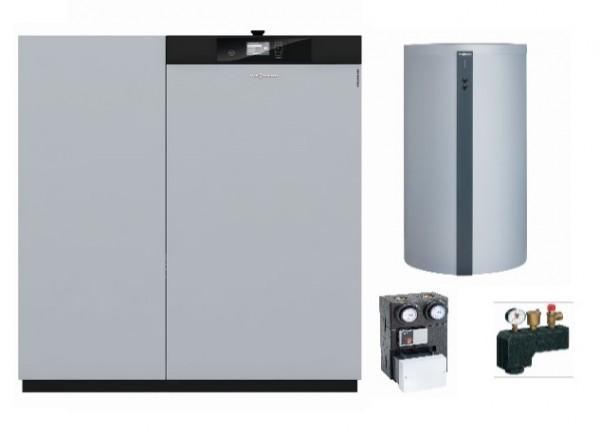 Paket Vitoligno 300-C, 18 kW mit Vitocell 100-E, 600 l