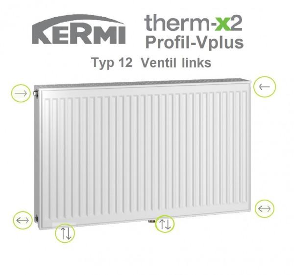Kermi Profil-Vplus Typ 12, BH 300 x BL 700 x BT 64 mm, Ventil links, versandkostenfrei in NRW