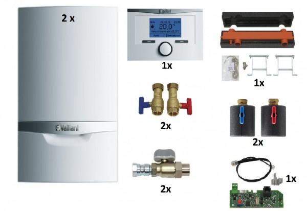 VAILLANT Paket 1.150/2 ecoTEC plus VC 406/5-5 E, 2er Kaskaden, VRC 700/6 witterungsgeführt