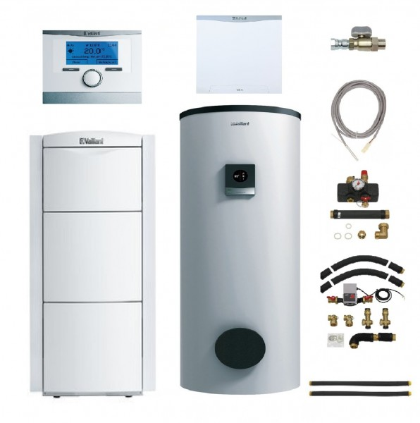 VAILLANT Paket 2.14/6 ecoVIT exclusiv VKK 226/4 LL, VIH S 300/3 MR (300 Liter), multiMATIC VRC 700/6