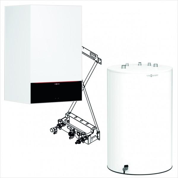 Viessmann Paket Vitodens 200-W 11 kW Umlauf mit Vitocell 100-W Typ CUGB 120L untergestellt