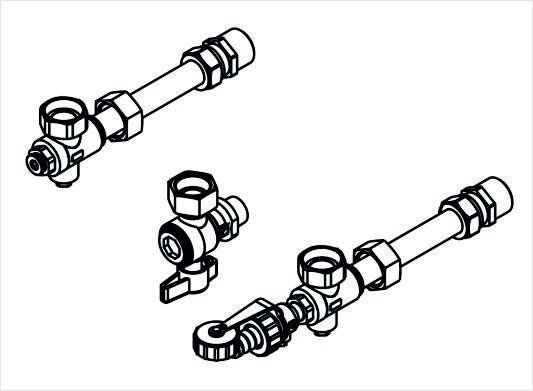 Viessmann Anschlusszubehör Gas-Brennwertheizgerät Unterputzmontage