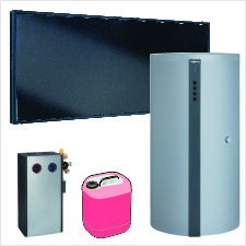 Paket Vitosol 200-FM, 4x SH2F, HU Vitocell 340-M 750l, ohne Regelung