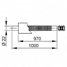 Viessmann Solar-Anschlussleitung für die Dachdurchführung 22 mm, 1000 mm lang