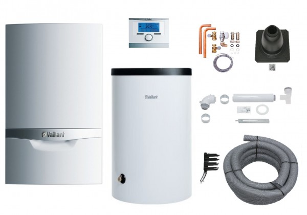 VAILLANT Paket 1.547/5 ecoTEC plus VC206/5-5 E, VRC 700/6, VIH R150/6 B, Luft-/Abgas flex