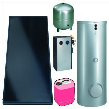Paket Vitosol 200-FM SV2F, 4,6m², TW SM1, Vitocell 100-B 300l, CVBB